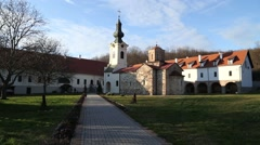 The monastery grounds Stock Footage