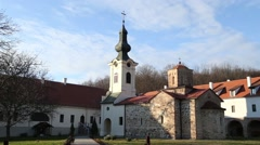 Chapel and parvis of the monastery Stock Footage