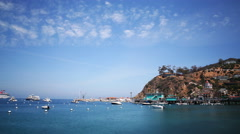 4K Motion Control Time Lapse of Panoramic View of Avalon Bay in Catalina Island Stock Footage