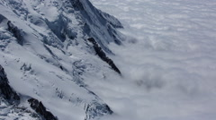mont blanc alps france mountains snow peaks ski timelapse - stock footage