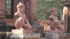 Banteay Srei Temple at Angkor, Siem Reap, Cambodia Stock Footage