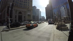 Michigan Ave in Chicago, Illinois Stock Footage