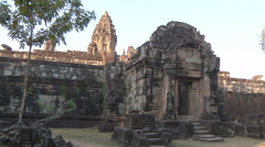 Roluos Temple, Bakong at Hariharalaya, Roluos, Cambodia Stock Footage