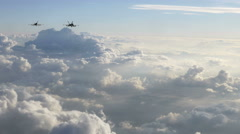 Fighter Jets Flying Fast Towards the Camera Stock Footage
