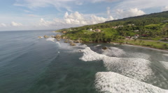 Rising up over the coast of Barbados Stock Footage