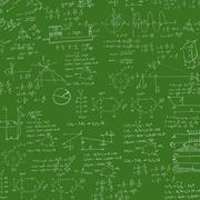 Formula in blackboard - stock illustration