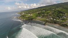 Aerial view of Bathsheba, Barbados Stock Footage