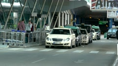 4K Portugal Lisbon Lisboa Aeroporto de Lisboa International Airport Taxi stand Stock Footage