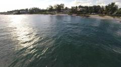 Aerial footage of Barbados rugged south coast Stock Footage