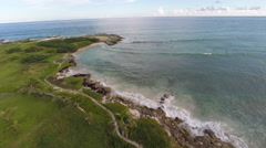 Barbados Aerials, Flying over Surfers on the South Coast Stock Footage