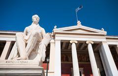 Statue of Ioannis Kapodistrias famous politician, Athens, Greece Stock Photos