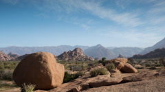 Tafraoute palm rock formations nature morocco landscape Stock Footage
