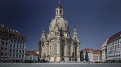 Church Of Our Lady Frauenkirche In Dresden Germany Timelapse Stock Footage