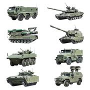 Armoured military vehicles Russia isolated on white - stock photo