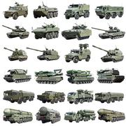 modern Russian armored military vehicles isolated - stock photo