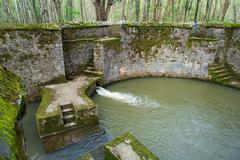 Water in Well in Forest - stock photo