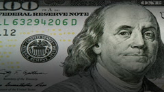 Dollar close up movement Stock Footage