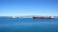 Cargo ship sailing Arkistovideo