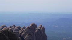 MontSerrat mountain Stock Footage