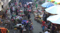 Ubud Market Bali Moving through 4K Stock Footage