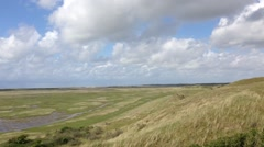 Pan from the slufter in Texel the Netherlands Stock Footage