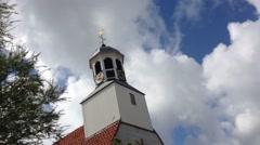 Church in de Koog Texel The Netherlands Stock Footage