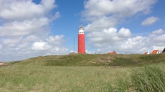 Light House on Texel in Holland The Netherlands Stock Footage