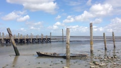 The Wadden Sea from Texel in The Netherlands Stock Footage