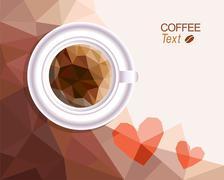 Coffee love background - stock illustration