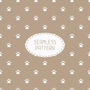Seamless pattern with animal footprints, cat, dog. Wrapping paper. Paper for - stock illustration