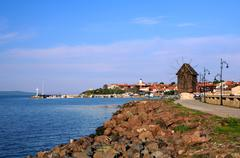 View of Old Town of Nesebar Stock Photos