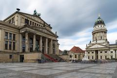 Gendarmenmarkt in Berlin, Germany. View on French Cathedral and Konzerthaus Stock Photos
