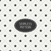 Geometric seamless stars pattern. Wrapping paper. Paper for scrapbook. Tiling - stock illustration