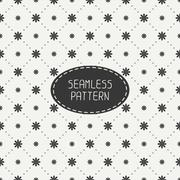 Geometric floral seamless pattern with flowers. Wrapping paper. Paper for - stock illustration