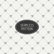 Monochrome hipster fashion geometric seamless pattern with diamond. Wrapping - stock illustration