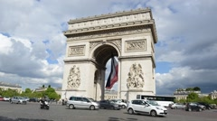 Commuters and Tourists in Paris, France Stock Footage