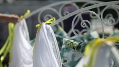 Beautiful wedding decorations Stock Footage