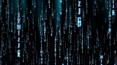Dark Stylish Matrix Animated Background Stock Footage