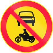No Motor Vehicles in Finland - stock illustration