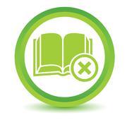 Remove book volumetric icon - stock illustration