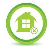 Remove house volumetric icon - stock illustration