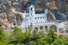 Monastery Ostrog is a monastery of Serbian Orthodox Church in Montenegro Stock Photos
