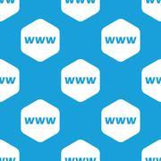 WWW hexagon pattern - stock illustration