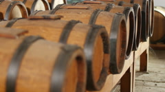 Balsamic vinegar  barrels 4k Stock Footage