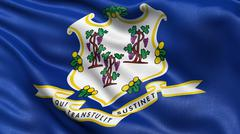 US state flag of Connecticut - stock photo