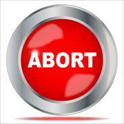Abort Button - stock illustration