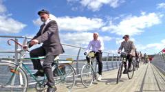 International Veteran Cycle Association (IVCA) Costume ride Stock Footage