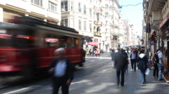ISTANBUL, TURKEY Istiklal Street at eventide on Stock Footage