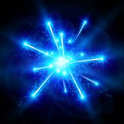 Blue Big Bang - stock illustration