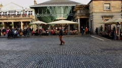 Covent Garden in London Stock Footage